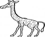 une grande girafe dessin à colorier