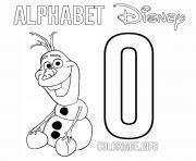 Lettre O pour Olaf dessin à colorier