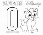 Lettre O pour Oliver Disney dessin à colorier