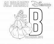 Lettre B pour Belle dessin à colorier