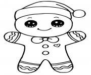 biscuit homme en pain depices noel dessin à colorier
