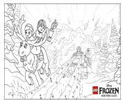 Elsa Anna Frozen Avalanche lego disney dessin à colorier