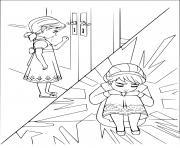 elsa doit partir triste dessin à colorier