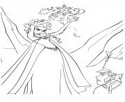 reine des neiges elsa est fache dessin à colorier