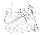 reine des neiges princesse anna elsa dessin dessin à colorier