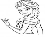 Coloriage frozen elsa