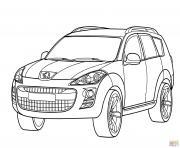 Peugeot 4007 dessin à colorier