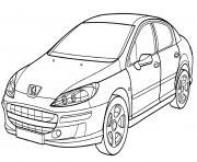 Peugeot 407 dessin à colorier