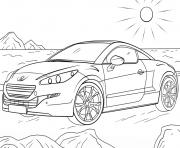 Peugeot Rcz dessin à colorier
