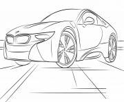 bmw i8 sport dessin à colorier