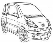 Peugeot 1007 dessin à colorier