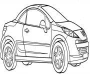 Peugeot 206 Cc dessin à colorier