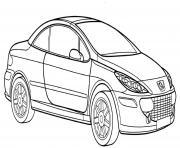 Peugeot 307 Cc dessin à colorier