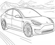 Tesla Model 3 dessin à colorier