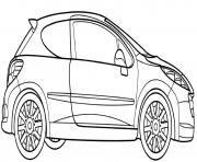 Peugeot 207 Rc dessin à colorier