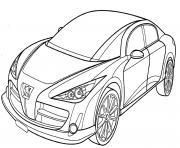 Peugeot Rc dessin à colorier