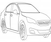 Peugeot 508 dessin à colorier