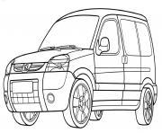 Peugeot Partner dessin à colorier