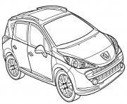Peugeot 207 Sw dessin à colorier
