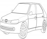 Peugeot 306 dessin à colorier