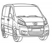 Peugeot Expert dessin à colorier