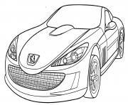 Peugeot 907 dessin à colorier