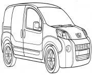 Peugeot Bipper dessin à colorier
