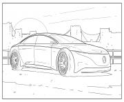 mercedes benz automobile dessin à colorier
