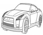 Nissan GT R Sport dessin à colorier