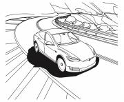 tesla model 3 voiture electrique dessin à colorier