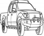 voiture 4x4 suzuki dessin à colorier