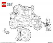 Voiture 4x4 Lego City Off Roader dessin à colorier