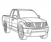 Coloriage voiture 4x4 pick up