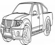 Nissan Navara Voiture 4x4 dessin à colorier