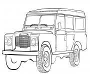 voiture 4x4 Militaire dessin à colorier