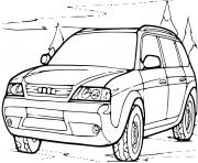 automobile 4x4 audi dessin à colorier