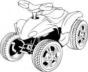 quad 4x4 dessin à colorier