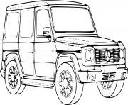 voiture 4x4 Mercedes dessin à colorier