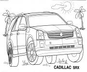 Voiture Cadillac 4x4 SRX dessin à colorier