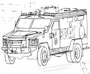 Coloriage voiture SWAT 4x4 Police
