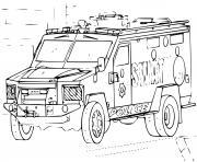 voiture SWAT 4x4 Police dessin à colorier