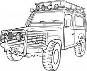 Coloriage voiture 4x4 Jeep