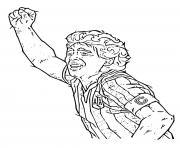 Diego Maradona La main de dieu dessin à colorier
