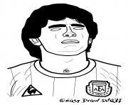 diego armando maradona foot dessin à colorier
