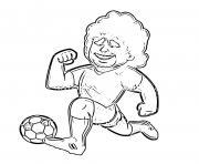 diego maradona cartoon dessin à colorier