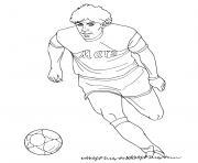 diego maradona footballeur international argentin dessin à colorier