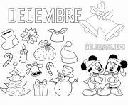 decembre theme de noel maternelle dessin à colorier