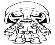 Doctor Doom Fortnite dessin à colorier