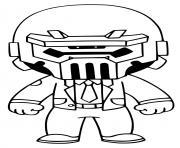 Ghost Brutus Fortnite dessin à colorier