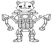 Kit Cat Fortnite dessin à colorier